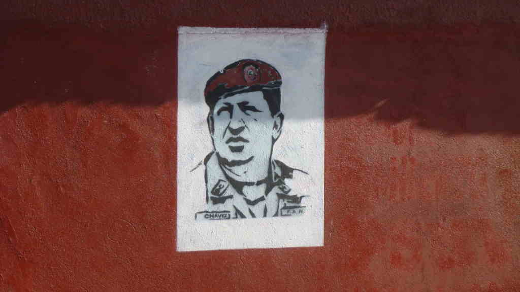 Hugo Chavez Portrait Grafitti