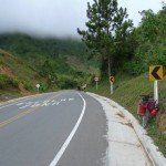 Mountain top road, which i conquered with my bike.