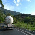 Slow trucks in Colombia.