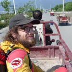 Hitchhiking moto China