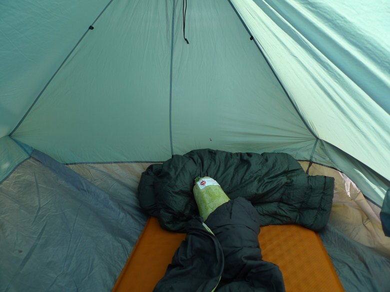 Me sleeping in a tent. Those fuckers surprised me, before I could have my morning catlick.